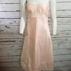 J. Crew Pink Strapless Party Dress silk Lined 4